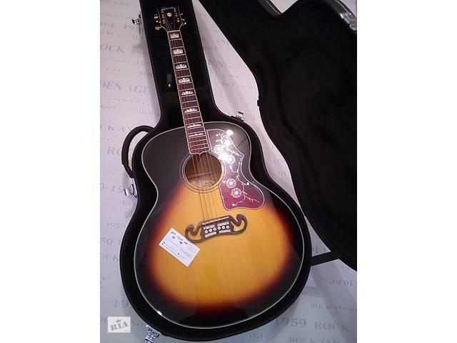 купить бу Акустическая гитара Gibson J 200 Burst 2TS Fishman China в Тетиеве