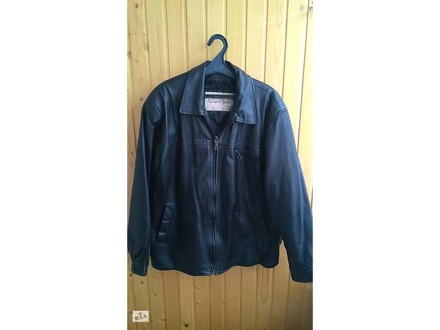 бу Куртка мужская кожаная демисезонная р. 52-54 в Черкасах