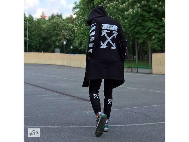 Мантия унисекс в стиле Off white Cross pixel чёрная- объявление о продаже  в Києві