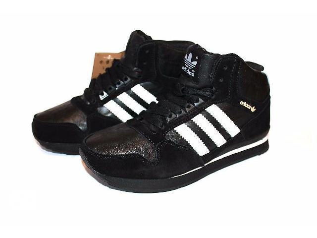 бу  Мужские кроссовки Adidas на меху (Black) в Харькове