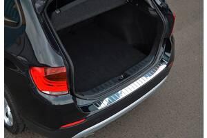 Накладка из стали на задний бампер OmsaLine (нерж.) BMW X3 F-25 2011-2018 гг. / Накладки на задний бампер БМВ