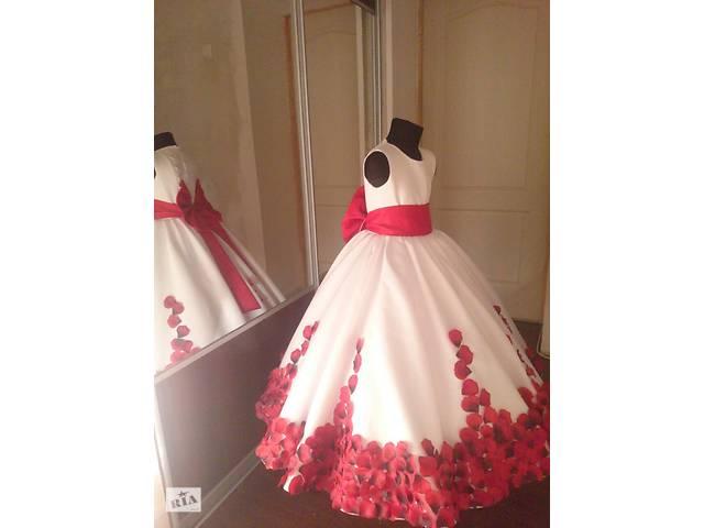Дитяче та підліткове ошатне плаття червоне сонце на випускний шикарне 47d5bca14391e