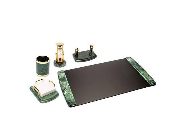 """купить бу Настольный набор BST 410003 55*43 см чёрно-зелёный """"Мрамор"""" в Одессе"""