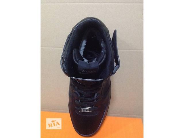 купить бу  Nike Air Force высокие мех белые черные в Киеве