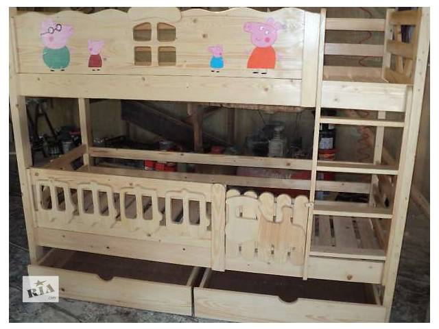 Новинка двухъярусная кровать Пеппа и семья для ваших деток из Карпат- объявление о продаже  в Киеве