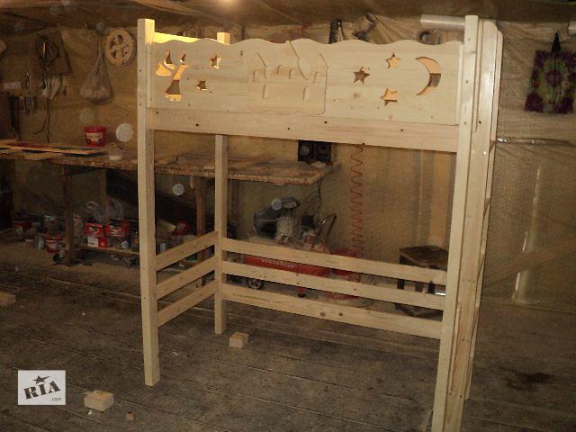 продам новинка кровать чердак из Смереки карпатской для ваших деток бу в Киеве