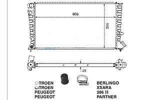 Новые Радиаторы Peugeot