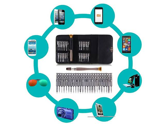 продам Набор отвёрток для разборки телефонов, планшетов (25 в 1) бу в Харкові
