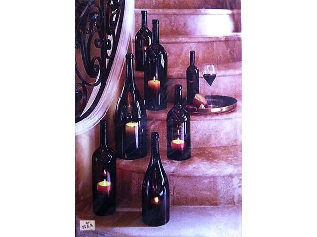 Картина с подсветкой. Купаж - горящие свечи в бутылках.- объявление о продаже  в Херсоне