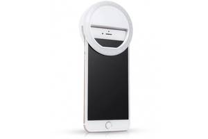 Вспышка-подсветка для телефона селфи-кольцо - Белый