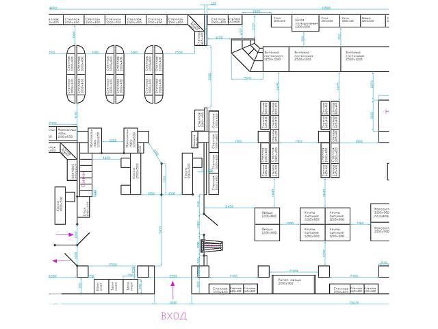 бу Проектирование торгового зала, расстановка оборудования магазинов  в Украине