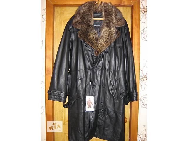 плащ-пальто из натуральной кожи- объявление о продаже  в Молодогвардейске