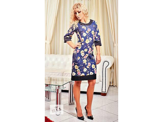 продам Платье с цветами сакурой есть большой размер бу в Хмельницком