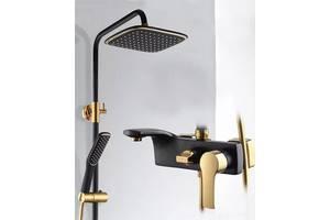 Душовий гарнітур Art Design 80013BG чорний золото