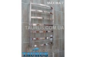 Унікальний вузький полотенцесушитель Maxima 7/750х400; Перекладина 30х10; Водяний, електротена або гібридний