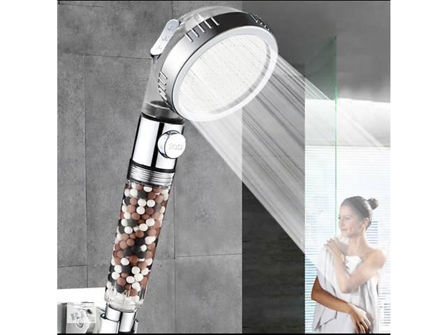 Лійка насадка 3 режиму для душу і ванни SPA з турмаліном і кнопкою on/off- объявление о продаже  в Києві