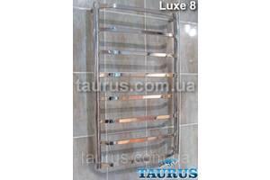 Узкая сушилка для полотенец Luxe 8/850х400 мм. Плоские н/ж трубки 20х10, перемычки трапеция.