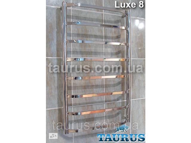 бу Узкая сушилка для полотенец Luxe 8/850х400 мм. Плоские н/ж трубки 20х10, перемычки трапеция. в Смілі