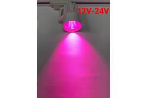 Светодиодный трековый фитосветильник SL-4003F 20W 12-24V DC (full spectrum led) белый Код.59579