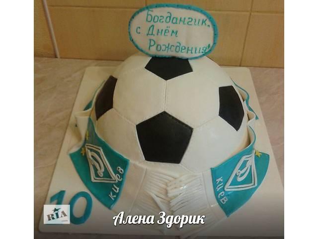 продам Праздничный торт футбольный мяч с шарфом Динамо-Киев бу в Киеве