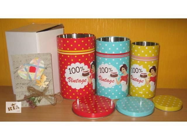 продам Продам набор баночек-матрешек для хранения чая-кофе-конфет бу в Харькове
