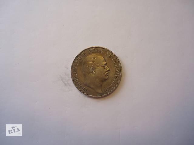 купить бу Продаю монету талер, Шварцбург, 1866 год. Серебро. в Киеве