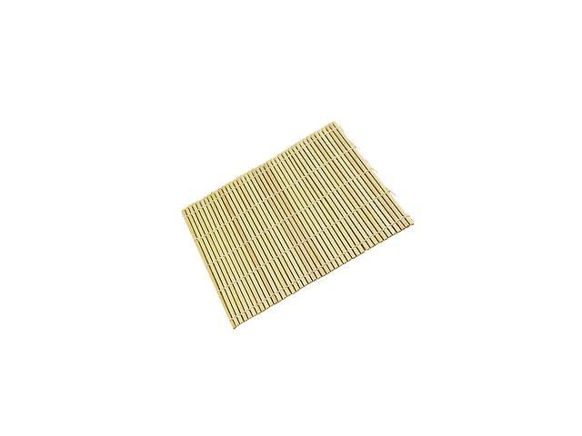 купить бу Бамбуковый коврик Thunder Group для ролл плоские ламели Бежевый (10435) в Киеве