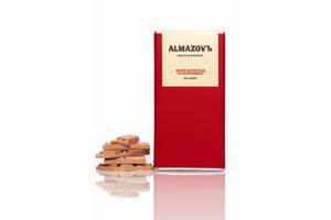 Белый шоколад с клубникой ALMAZOVЪ, 80 г, без сахара