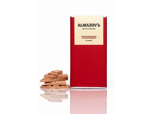 купить бу Белый шоколад с клубникой ALMAZOVЪ, 80 г, без сахара в Кривом Роге