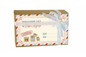 Крафт набор 20 плиток молочного шоколада Письмо от Деда Мороза OK-1118