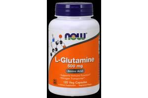 L-Глютамин, 500 мг, Now Foods,120 гелевых капсул