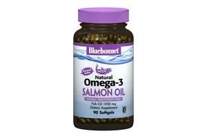Натуральная Омега-3 из Лососевого Жира Bluebonnet Nutrition 90 желатиновых капсул