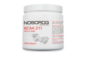 Nosorog BCAA 2:1:1 mega tabs, 200 таб