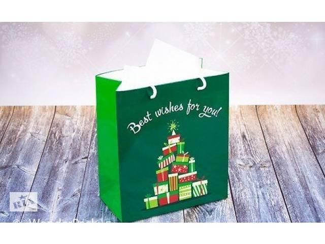 купить бу Подарочный пакет Новогодние Ёлки 24х21 см в Харькове