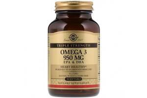 Пищевые добавки Solgar Omega-3 950 мг - 50 софт капс (815764)