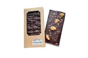 Шоколад горький 80% какао продуктов с грецким орехом и семечками 80 грамм