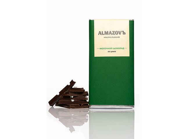 Шоколад МОЛОЧНЫЙ 0% сахара Almazov, 80г- объявление о продаже  в Кривом Роге