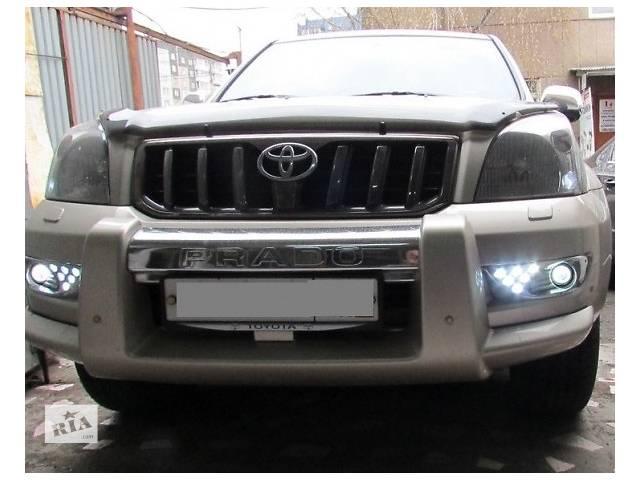 купить бу Противотуманные фары Toyota Prado120 (доп. фары, линза, диодные) в Луцке
