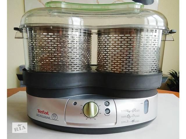 купить бу Пароварка TEFAL VITACUISINE Steamer 3 in 1 (можна готувати 3 страви одночасно, серія S06,Б/У як нова,потужність 2000W в Києві