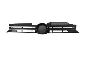 Решетка радиатора VW Golf VI '09-12 (кроме GTi) черная, открытая, с хром. молдингом (FPS) 5K0853651AJZLL
