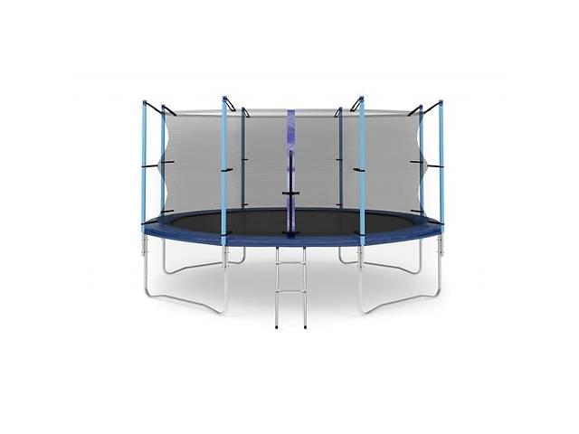 купить бу Батут Hop-Sport 14ft (427cm) blue с внутренней сеткой в Одессе