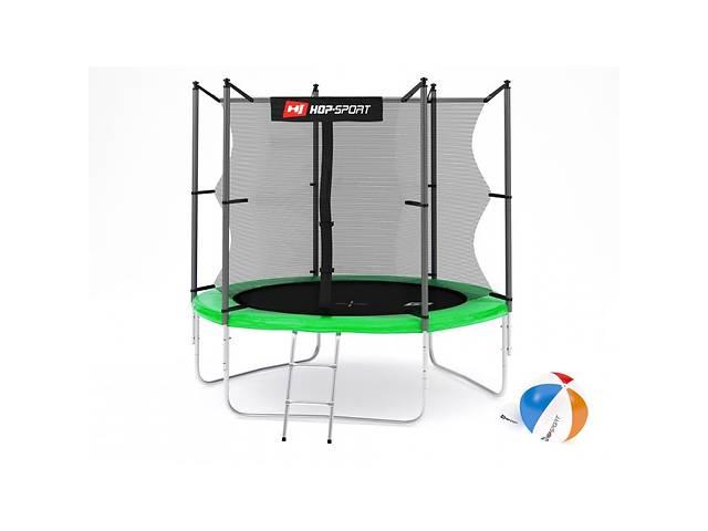 бу Батут Hop-Sport 8ft (244cm) green с внутренней сеткой в Одессе