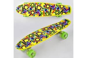 Скейт Best Board Р 11002, доска=55 см, колёса PU, светятся