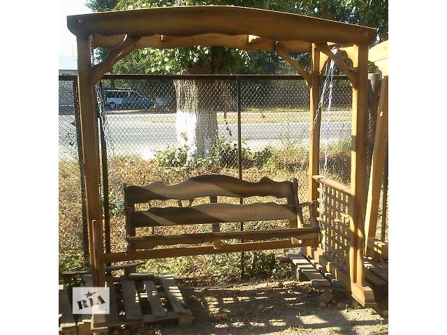 купить бу Садовые качели деревянные в Виннице