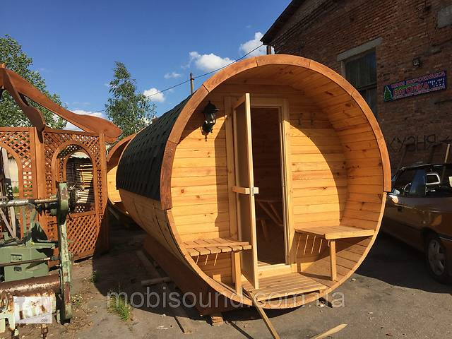 бу Деревянная баня бочка круглая 2,4х4,5 м в Одессе