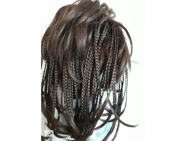 бу Перука,африканські косички,шиньон з натурального волосся.  в Украине
