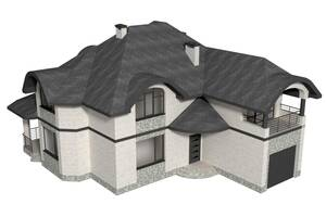 Проект двухэтажного жилого дома с гаражом 2КЖ-1 м. (050) 178-93-15