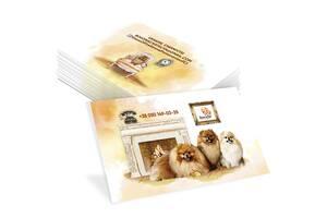 Разработка индивидуального дизайна макетов визиток