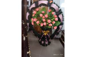 Ритуальные венки, корзины, цветы, атрибутика