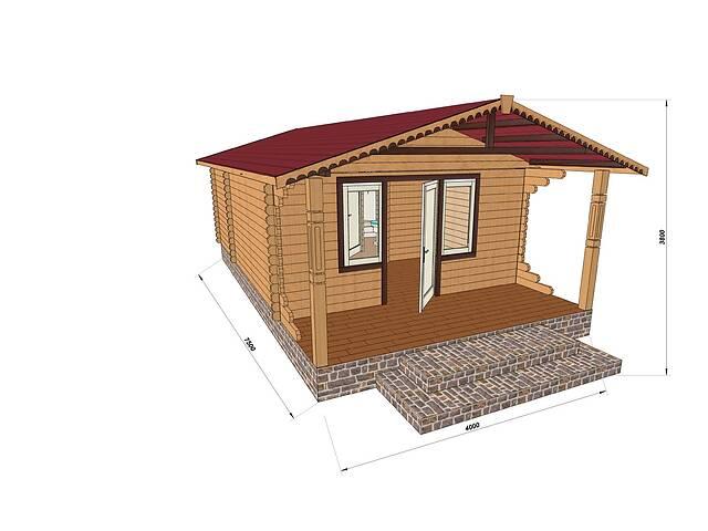 бу Строительство домов из профилированного бруса с верандой 4.2х7.5 в Одессе